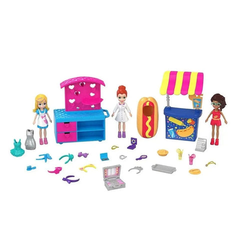 Polly Pocket Quiosque De Moda E Lanchinhos - Gfr10 - Mattel