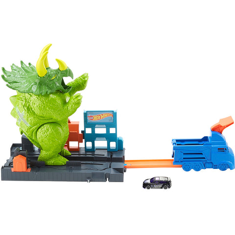 Hot Wheels Pista Ataque de Triceratops - Gbf97 - Mattel - playnjoy.shop