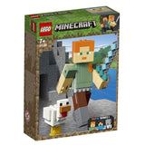Minecraft BigFig Alex com galinha LEGO 21149 - playnjoy.shop
