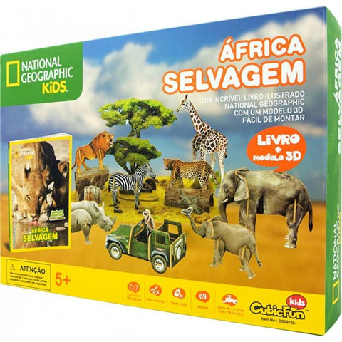 Africa Selvagem: National Geographic Kids - Cubicfun