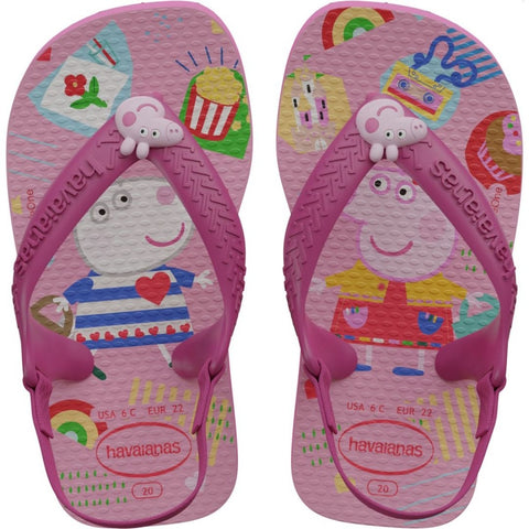 Chinelo Infantil Peppa Pig Baby 22 Rosa - 5784 - Havaianas