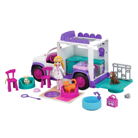 Polly Pocket Hospital Movel Dos Bichinhos - Gfr04 - Mattel
