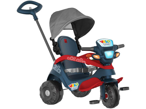Triciclo Velobaby Recilnavel Azul - Bandeirante - playnjoy.shop