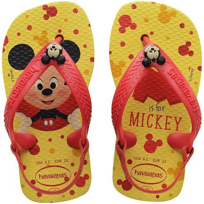Chinelo Mickey Infantil Baby Disney Classic 20 Amarel  7598 - Havaianas - playnjoy.shop