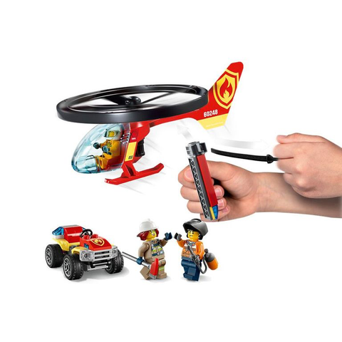 Combate ao Fogo Com Helicoptero 60248 - Lego City - playnjoy.shop