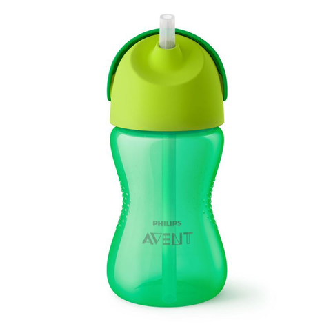 Copo com canudo curvado 300ml verde / SCF798/01 - AVENT - playnjoy.shop