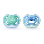 Chupeta Ultra Air Azul e Verde 6-18 Meses / SCF342/22 - Avent - playnjoy.shop