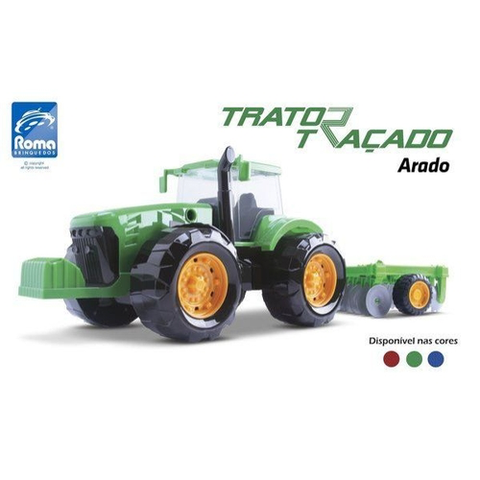 Trator Tracado Arado 47,5CM - ROMA - playnjoy.shop