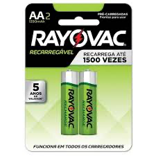Pilha Recarregavel AA 1400MAH ECO - 55802 - RAYOVAC - playnjoy.shop