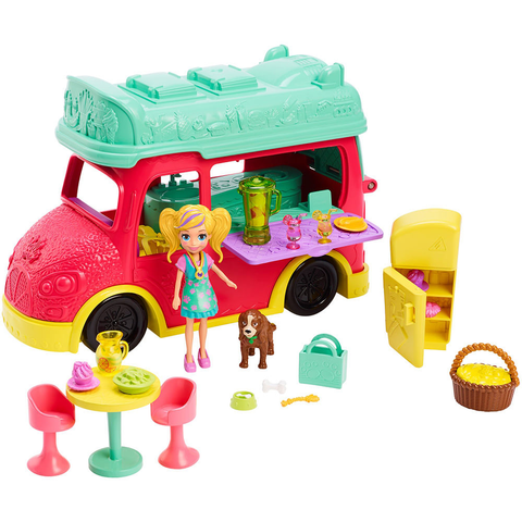 Food Truck 2 Em 1 - Smoothies - Polly Pocket - Gdm20 - Mattel