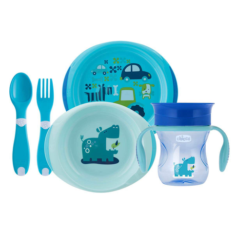 Kit Alimentação Azul 12M+ - CHICCO - playnjoy.shop