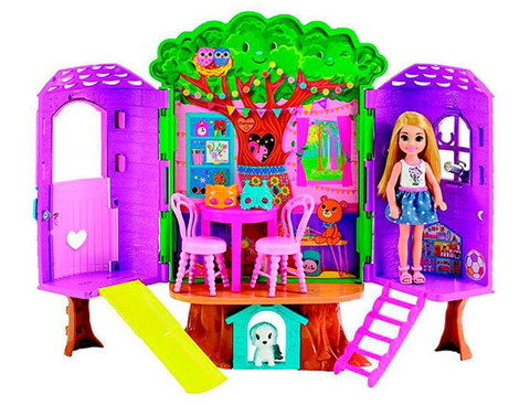 Casa da árvore da Chelsea - FPF83 Barbie - playnjoy.shop
