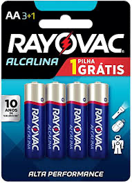 Pilha AA Leve 4 Pague 3 - Rayovac - playnjoy.shop