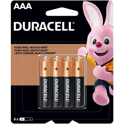 Pilha Alcalina Palito AAA 12 unid Blisters  - Duracell