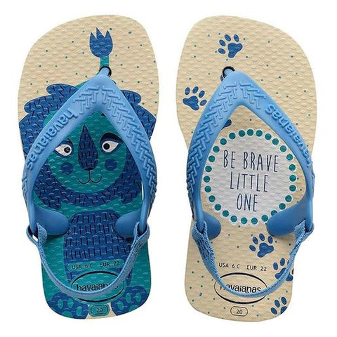 Chinelo Infantil Baby Pets 20 Bege Palha - Havaianas - playnjoy.shop