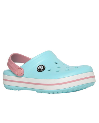 Calcado Crocband Kids Ice Blue/white C12c13