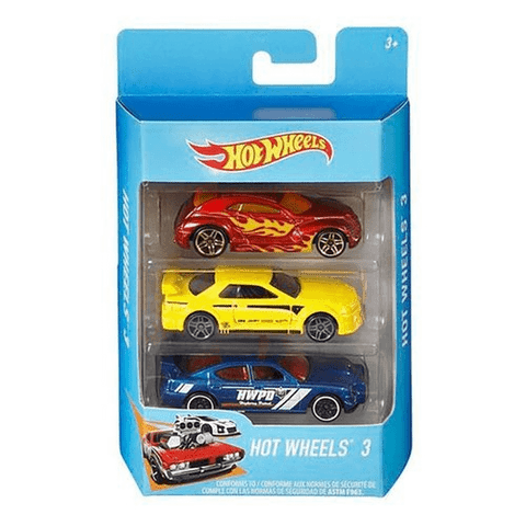 Hot Wheels-pacote 3 Carros Sortido - K5904 - Mattel - playnjoy.shop