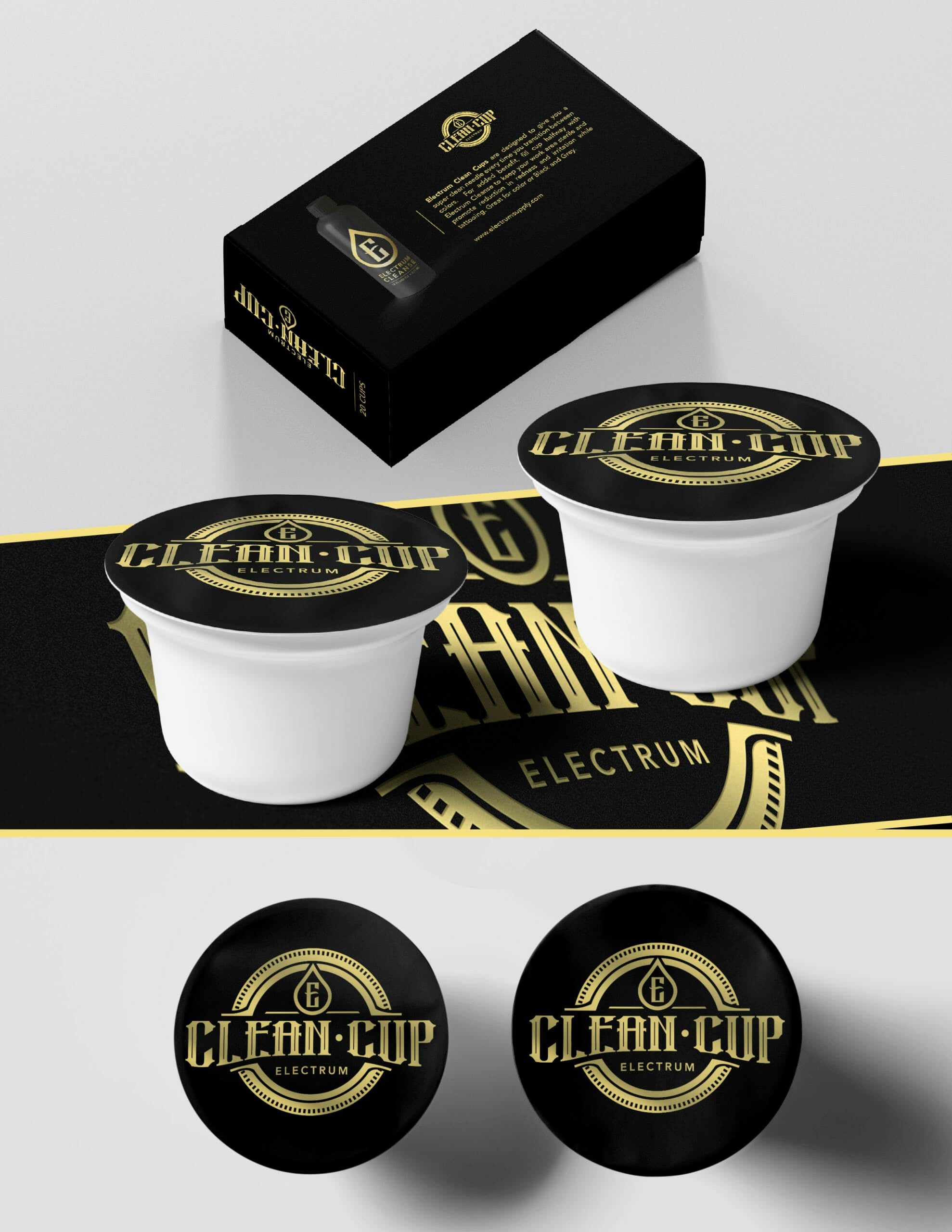 Electrum Clean Cup - Box of 20 - Station Prep. & Barrier - FYT Vegas