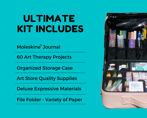 Ultimate Art Kit - 60+ Activities and Art Therapy Supplies - Oefy.com