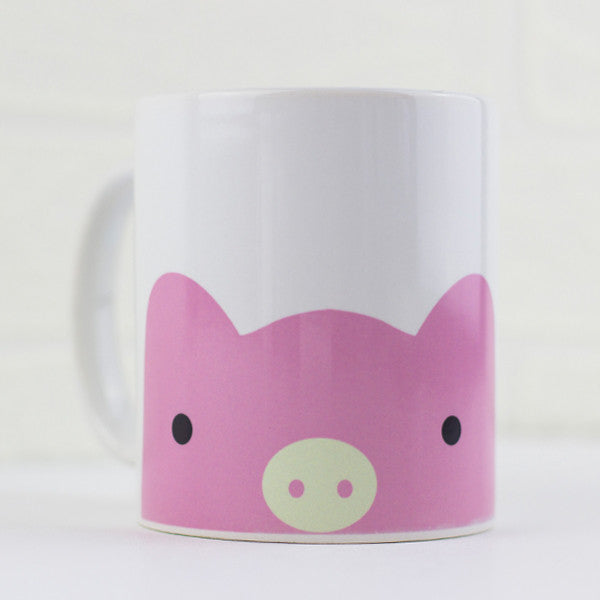 Pasquale the Pig Mug - Prints With Feelings  - 1