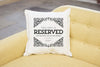 Reserved For Dad /  Grandad Father's Day Cushion | Personalised Cushion - Prints With Feelings  - 1
