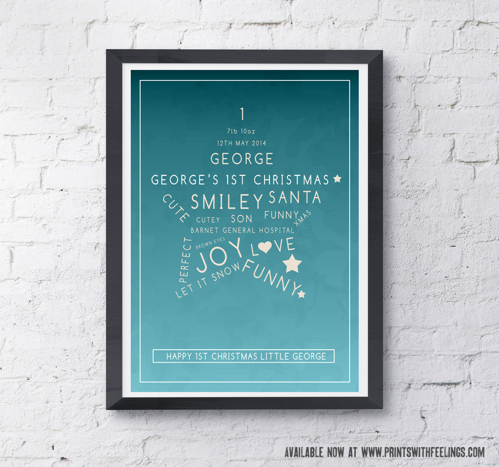Personalised Kids Christmas Prints - Prints With Feelings  - 1