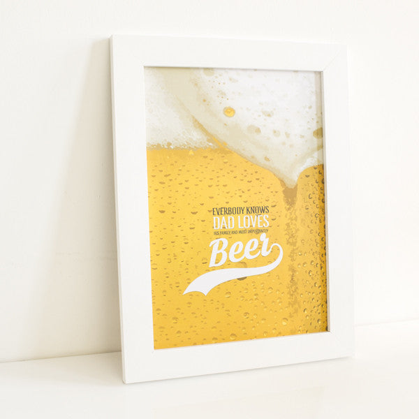 Father's Day Beer Print - Prints With Feelings  - 1