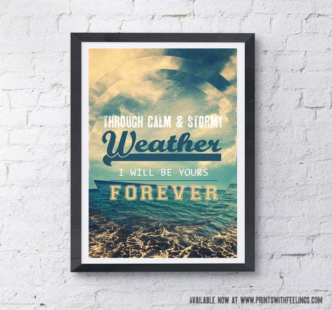 Calm & Stormy Weather Print - Prints With Feelings