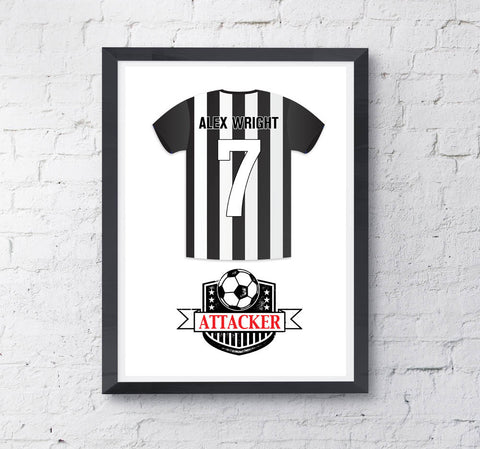 Kids Personalised Football Shirt Print - Prints With Feelings  - 2