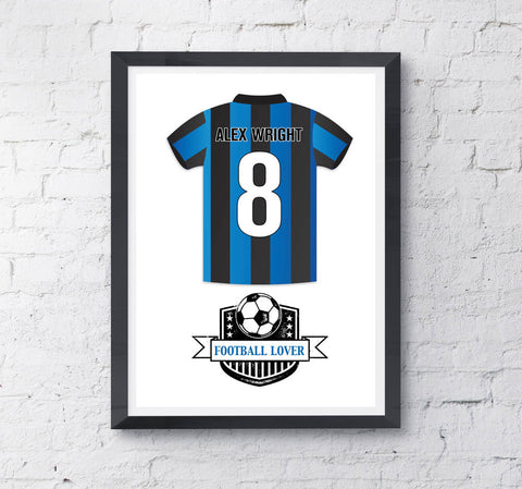 Kids Personalised Football Shirt Print - Prints With Feelings  - 1