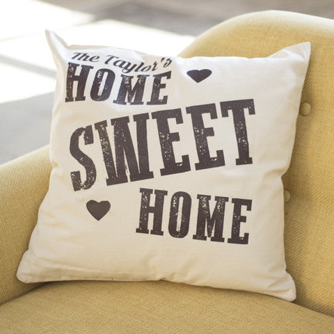 Couple's Home Sweet Home Cushion - Prints With Feelings  - 2