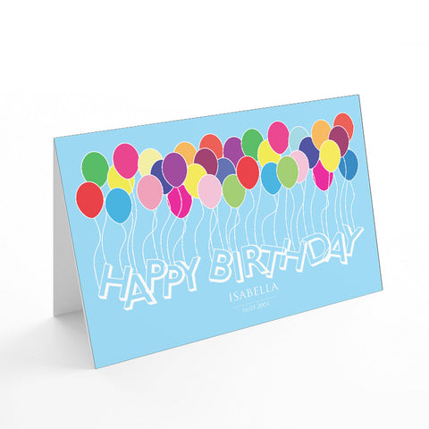 Kids Balloons Card - Prints With Feelings