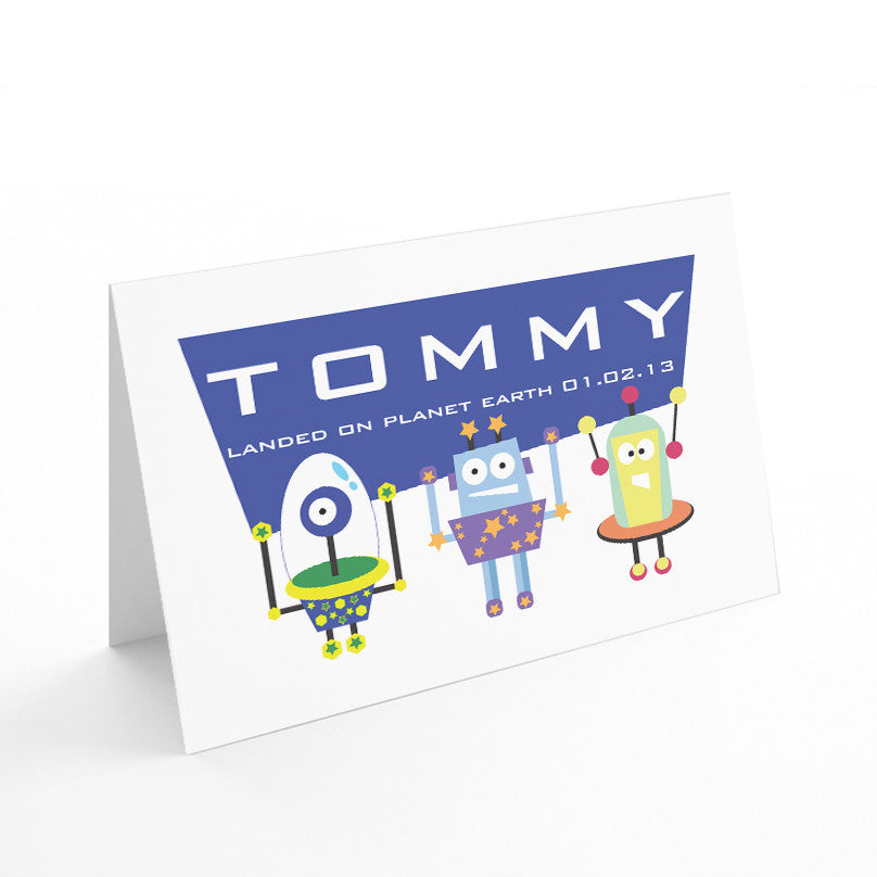 Kids Robots Card - Prints With Feelings