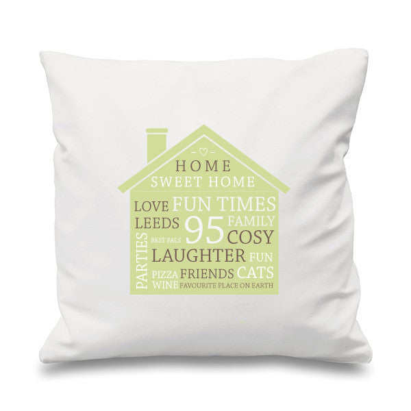 Home Sweet Home Personalised Cushion - Prints With Feelings  - 10