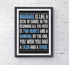 Marriage Is Like A Deck Of Cards - Funny Wedding Print - Prints With Feelings  - 1