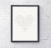 Love & Marriage - Personalised Wedding Print - Prints With Feelings  - 2