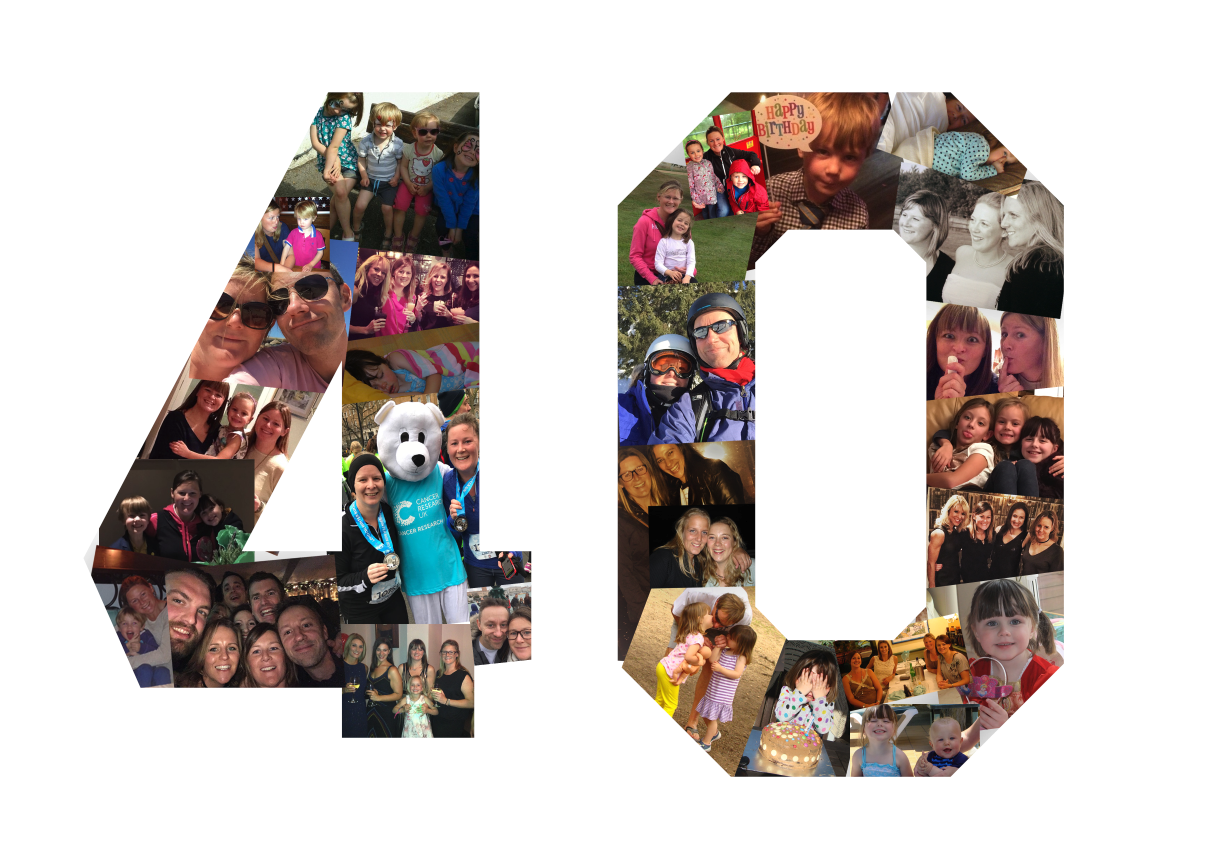 40th Birthday Collage Print - Custom Design