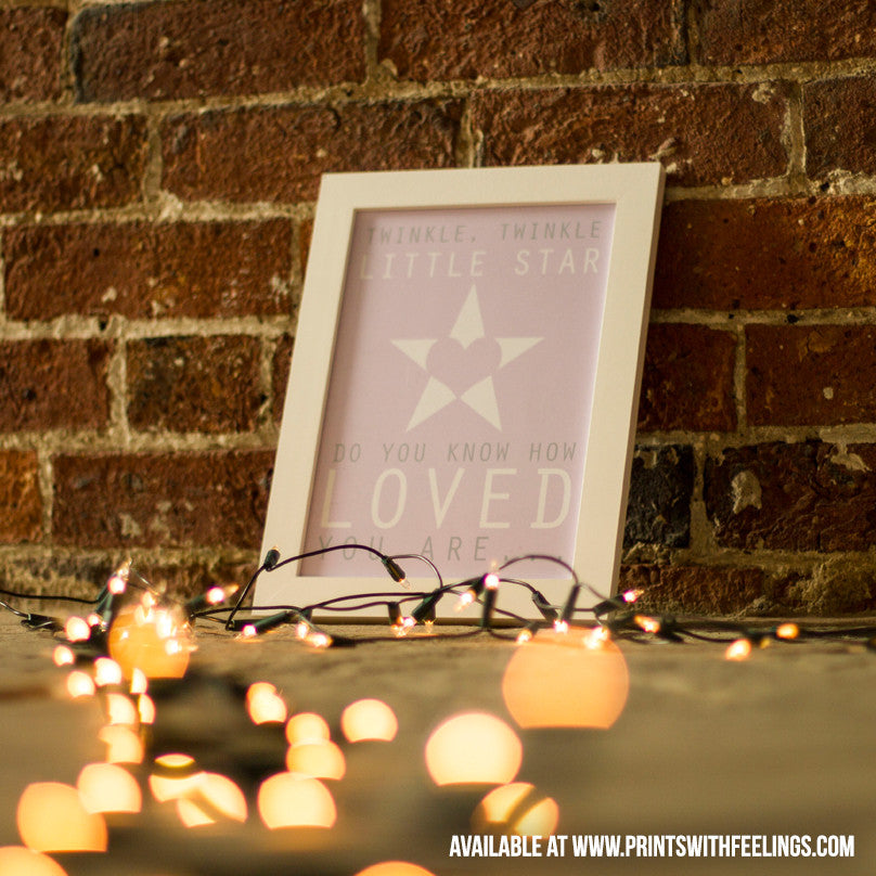 Twinkle Twinkle Little Star Print - Prints With Feelings  - 1