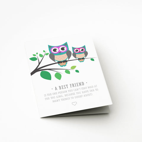 Best Owls Card - Prints With Feelings