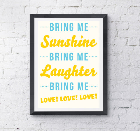 Bring Me Sunshine Print - Prints With Feelings  - 2