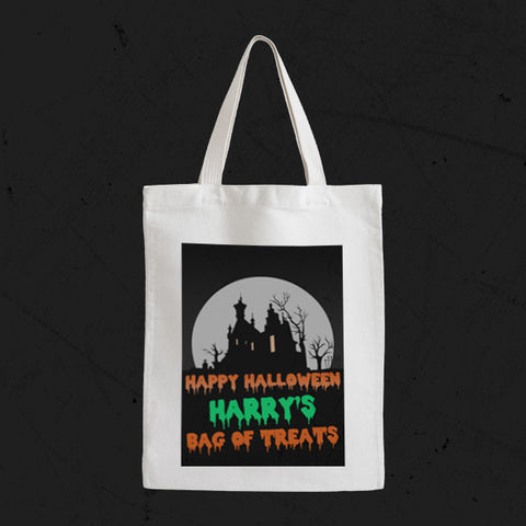 Personalised Canvas Trick Or Treat Bag | Halloween - Prints With Feelings