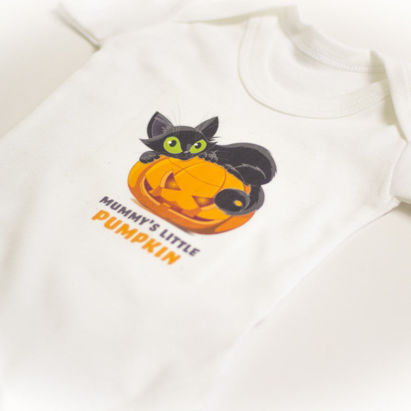 Pumpkin Halloween Babygrow | Halloween Babygrow - Prints With Feelings  - 1
