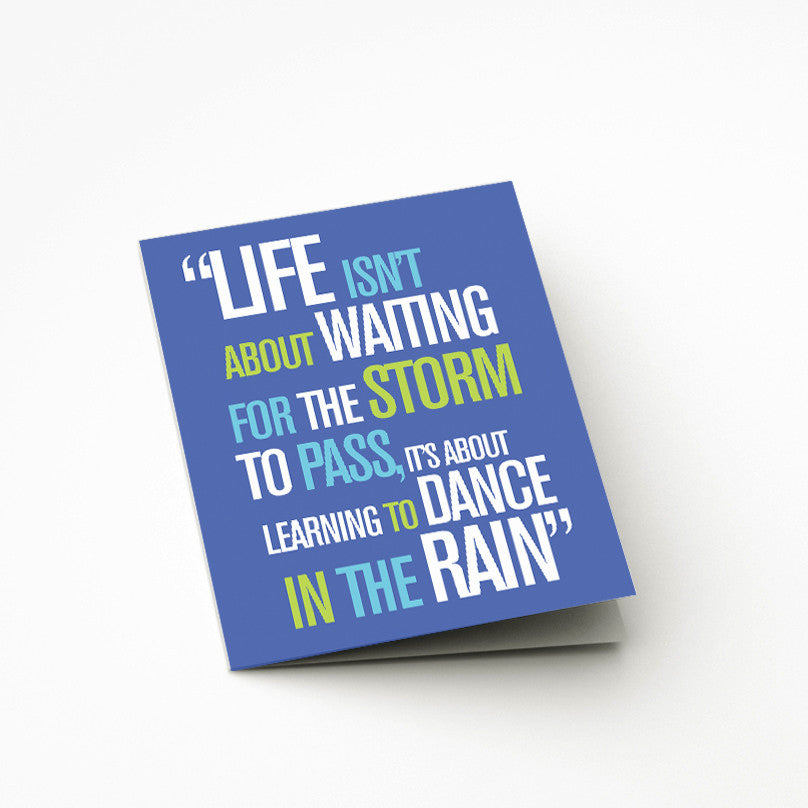 Life In The Rain Card - Prints With Feelings