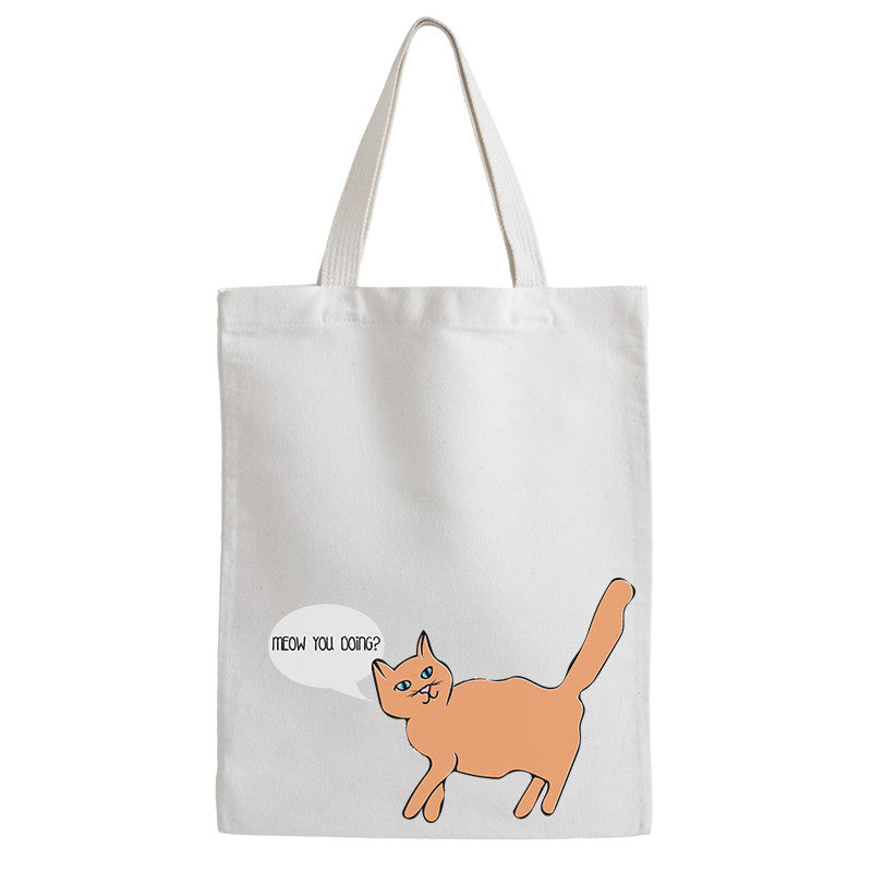 Meow You Doing Tote Bag - Prints With Feelings