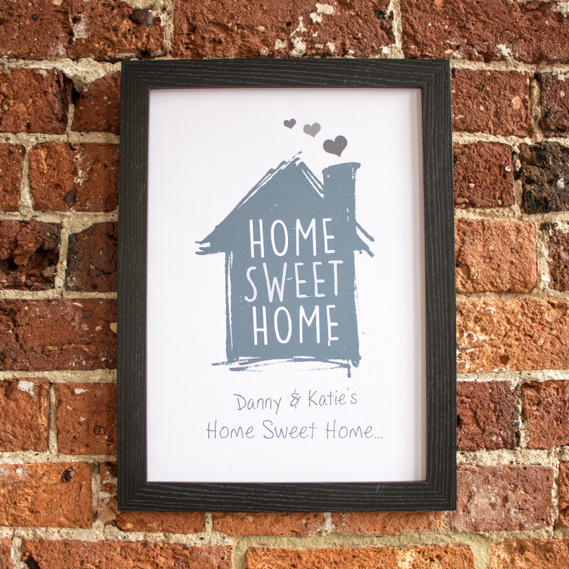 Home Sweet Home Illustrated Personalised Print - Prints With Feelings  - 1