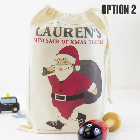 My 1st Santa Sack | Personalised Baby Sack | Drawstring Canvas - Prints With Feelings  - 2
