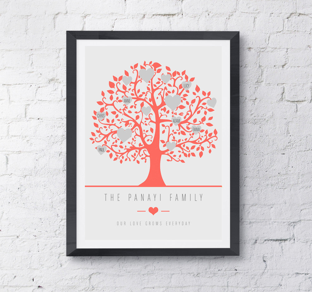 Family Tree 2015 Personalised Print - Prints With Feelings  - 4