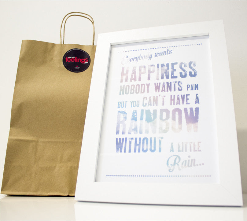 Can't Have A Rainbow Without A Little Rain Print - Prints With Feelings  - 1