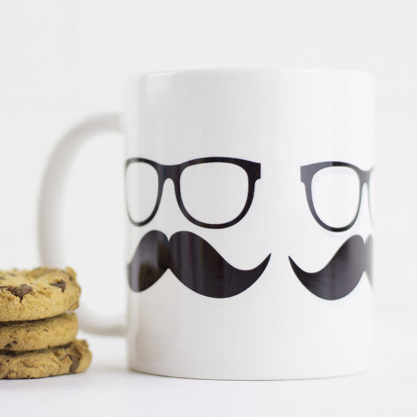 Moustache Mug - Prints With Feelings  - 1