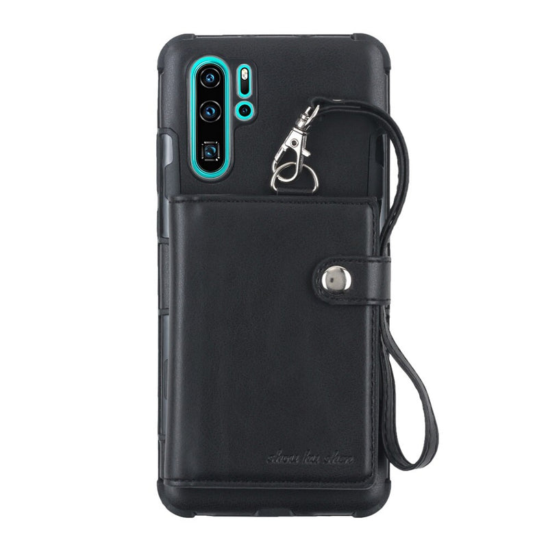 Haissky Card Slots Phone Case For Huawei P30 P30 Pro PU Leather Cases for Huawei P30 Lite Magnetic Stand Back Cover Capa